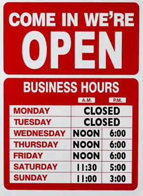 Open Business Hours